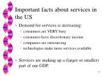 important facts about services in the us