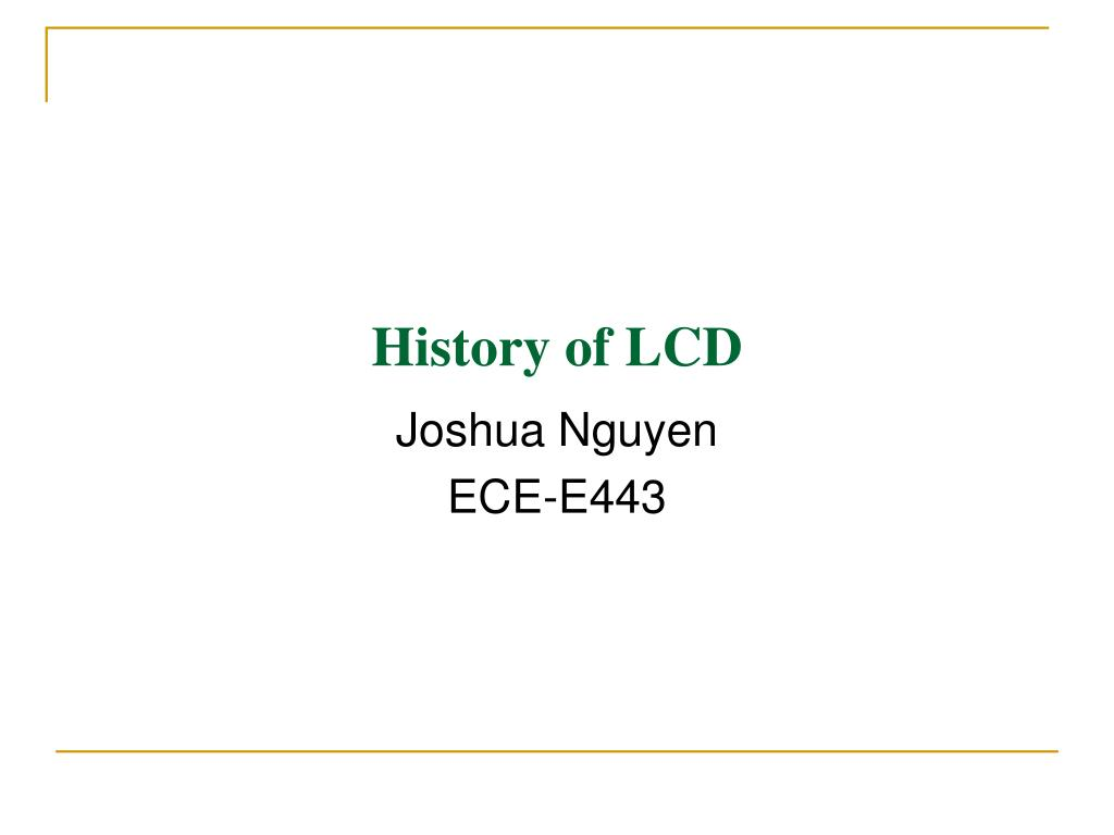 history of lcd l.