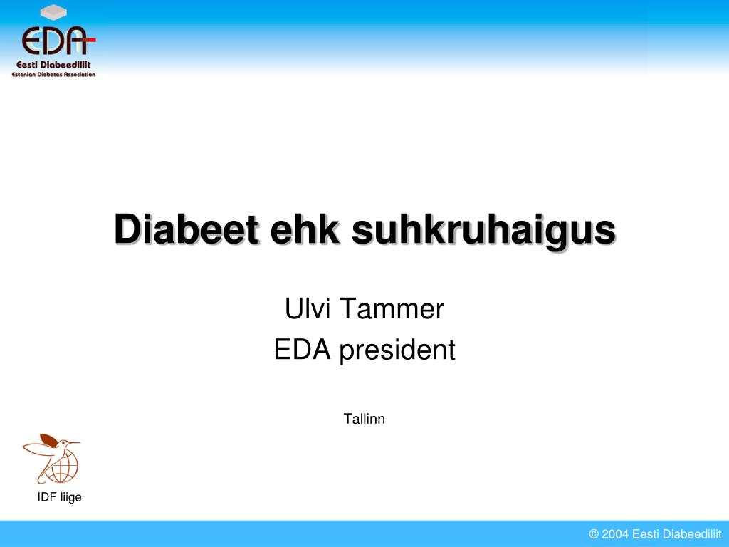 diabeet ehk suhkruhaigus l.