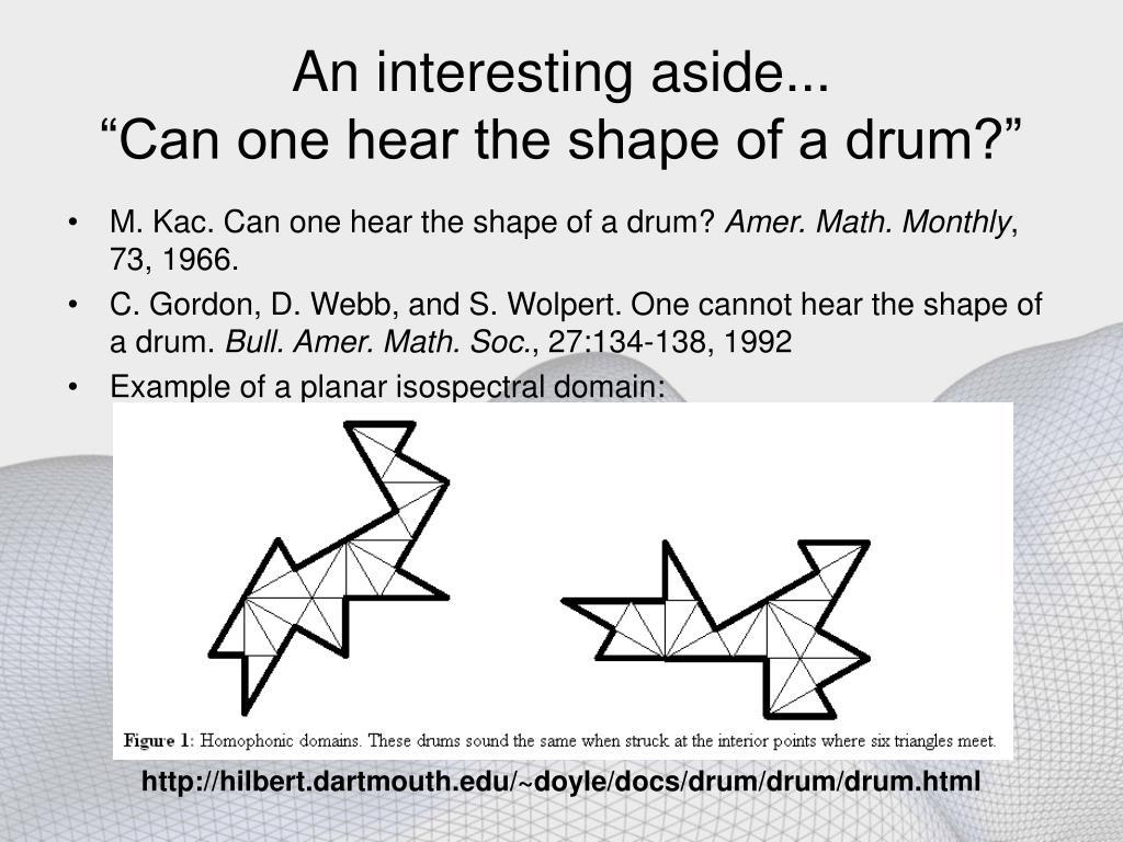 http://hilbert.dartmouth.edu/~doyle/docs/drum/drum/drum.html