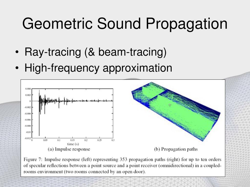 Geometric Sound Propagation
