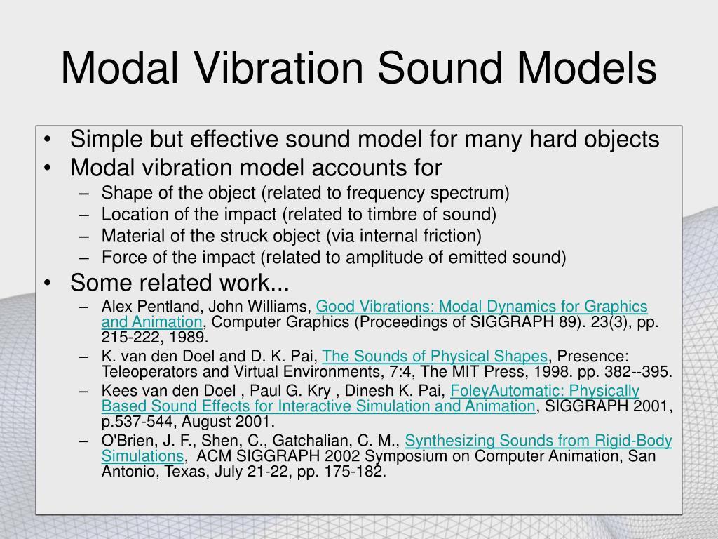 Modal Vibration Sound Models