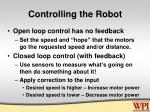 controlling the robot