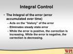 integral control