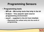 programming sensors