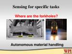 sensing for specific tasks49