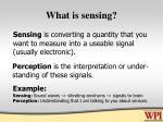 what is sensing