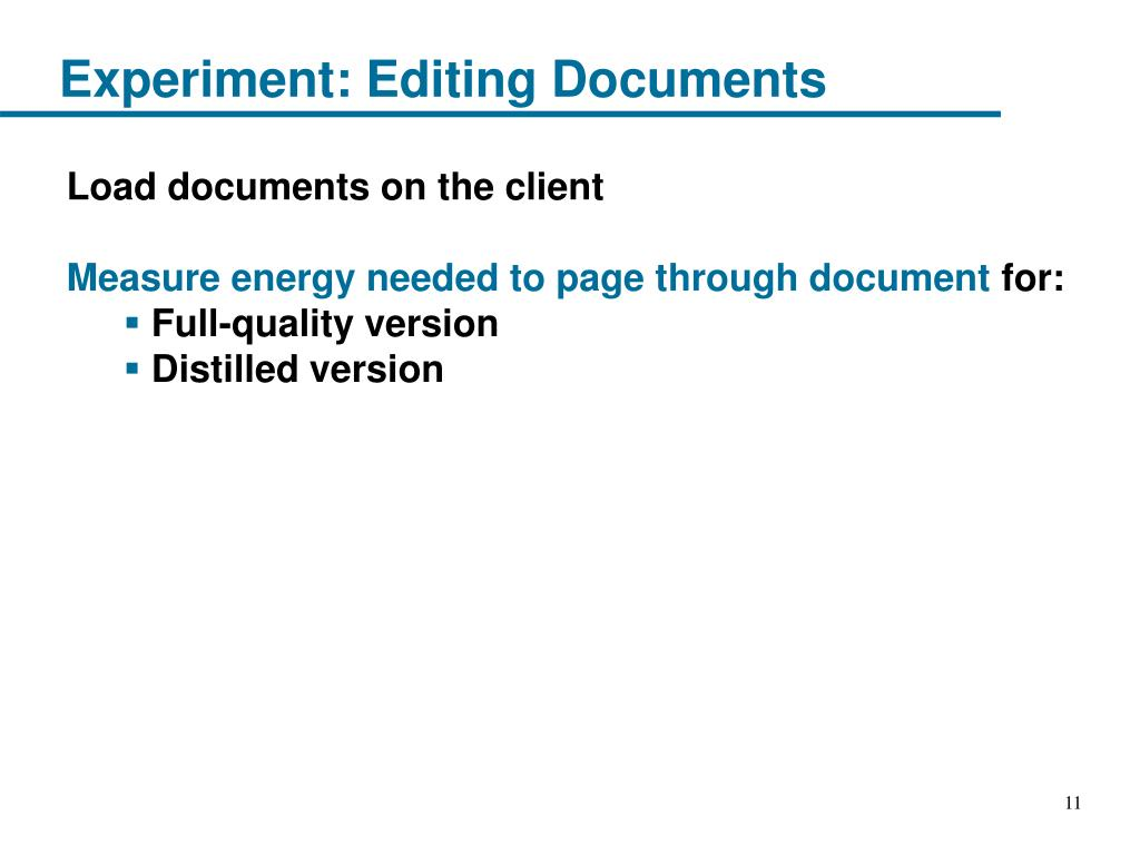 Experiment: Editing Documents