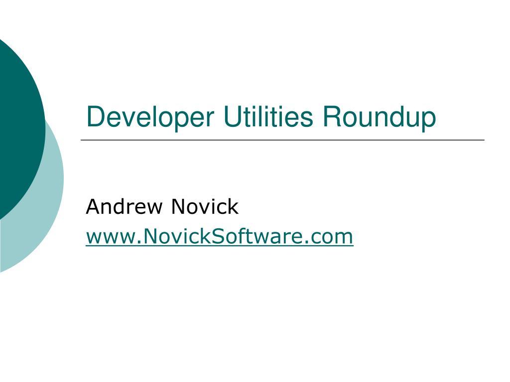 developer utilities roundup l.
