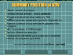 summary position of vzw
