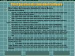 third question on embedded software
