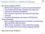 research context 1 method and language