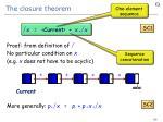 the closure theorem