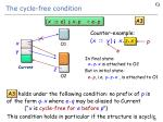 the cycle free condition