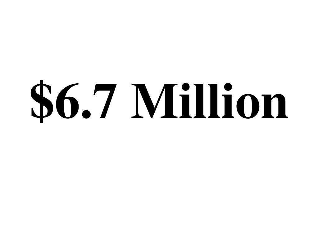$6.7 Million