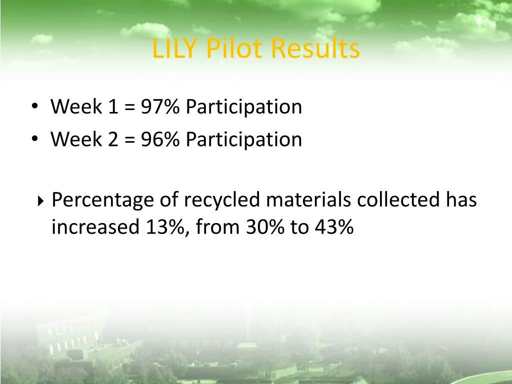 LILY Pilot Results