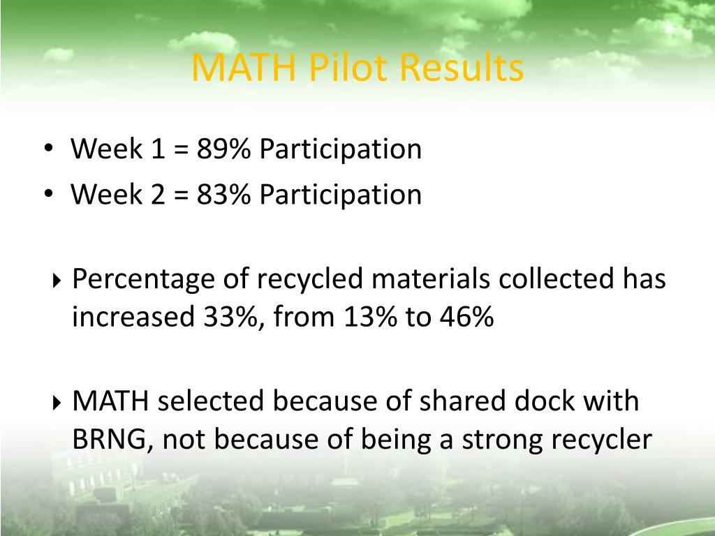 MATH Pilot Results