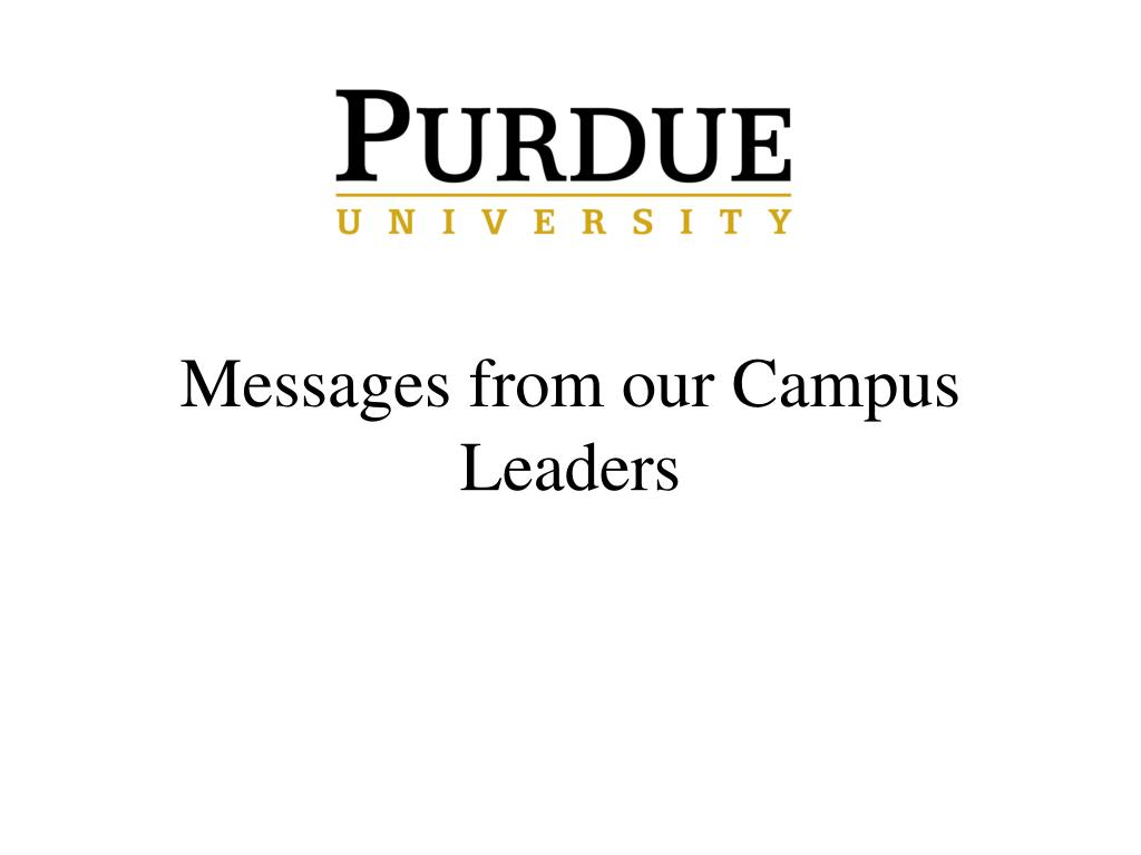 Messages from our Campus Leaders