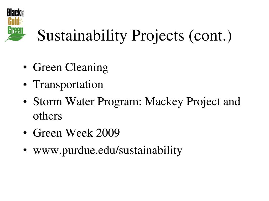 Sustainability Projects (cont.)