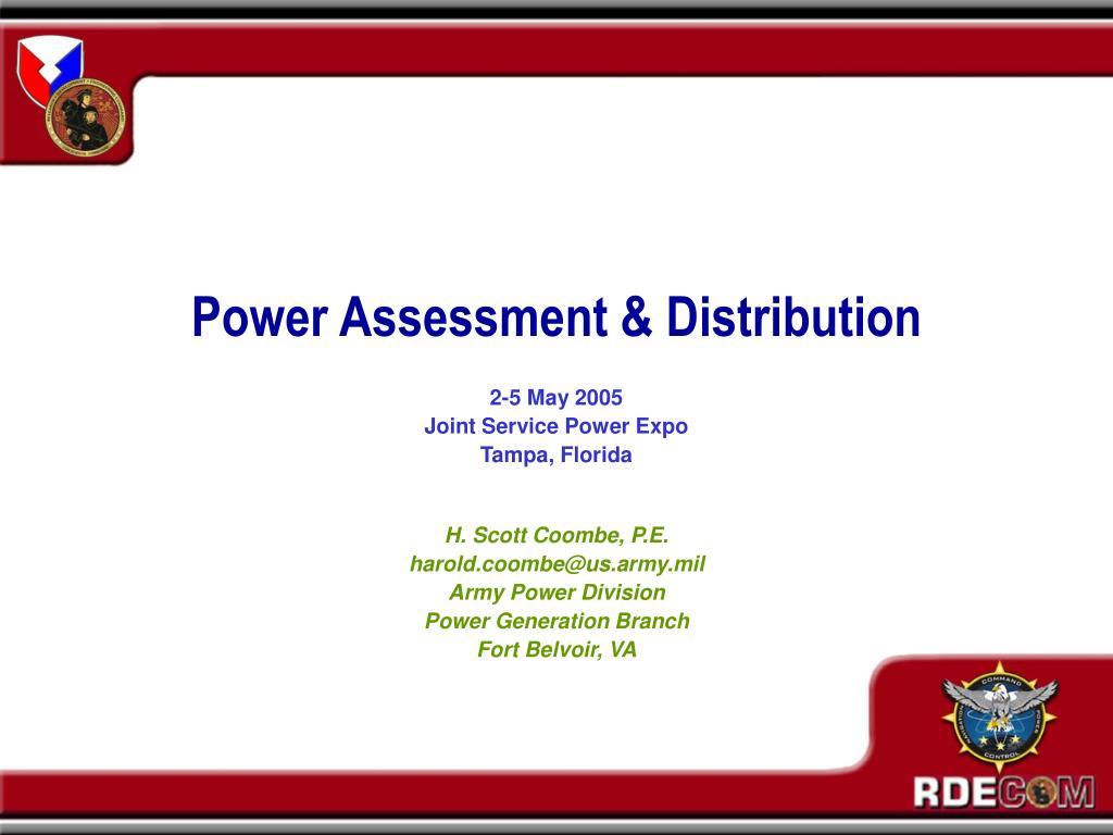 power assessment distribution l.