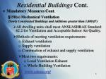 residential buildings cont