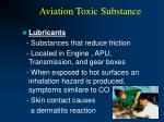 aviation toxic substance42