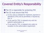 covered entity s responsibility