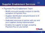 supplier enablement services