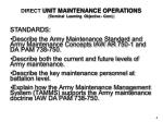 direct unit maintenance operations terminal learning objective cont
