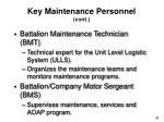 key maintenance personnel cont