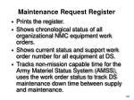 maintenance request register