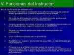 v funciones del instructor13