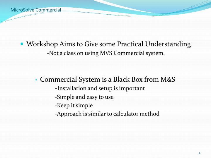 Microsolve commercial2
