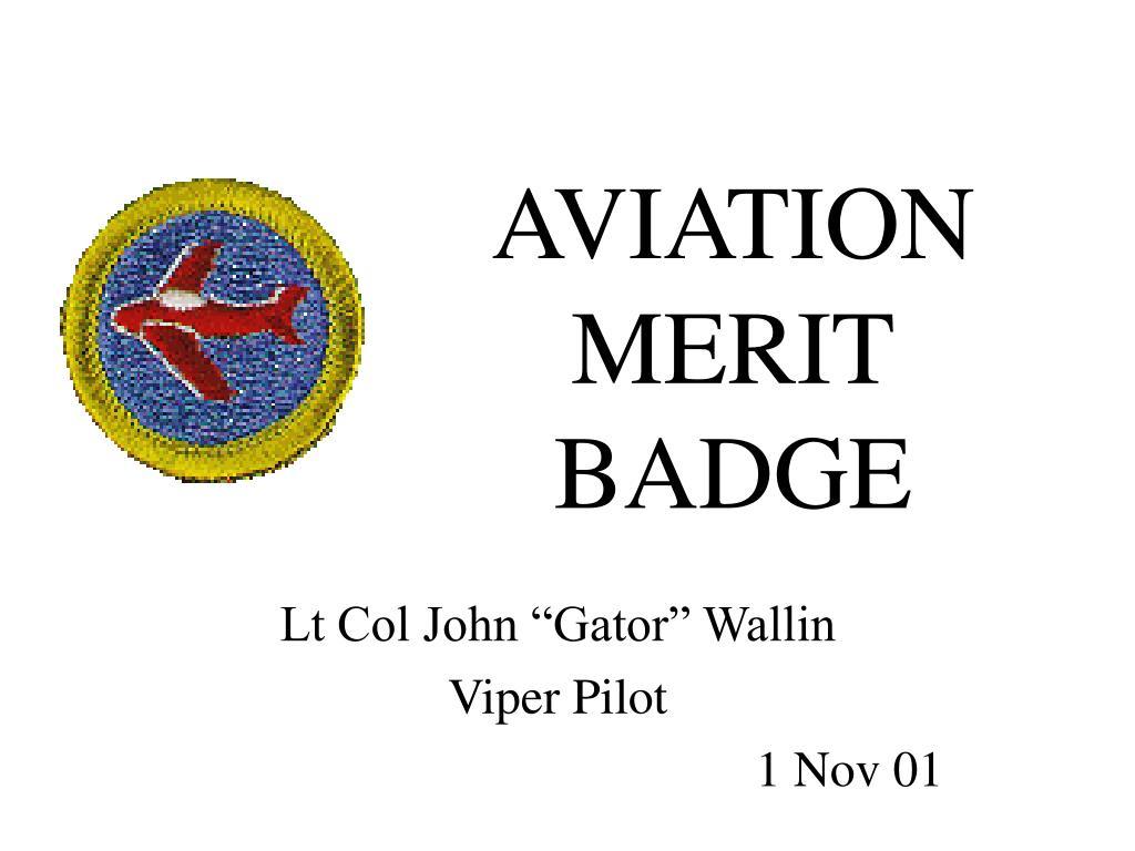 aviation merit badge l.