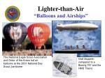 lighter than air balloons and airships