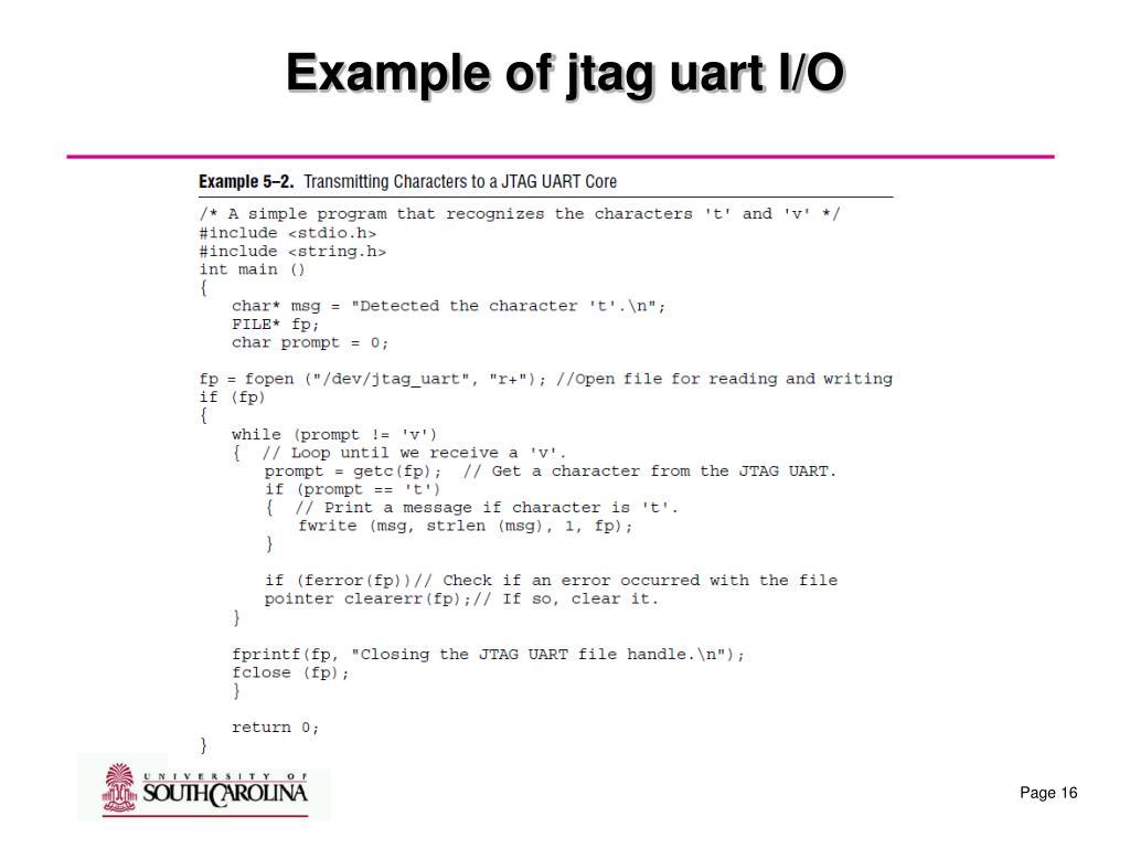 PPT - JTAG UART port in NIOS PowerPoint Presentation - ID:200534