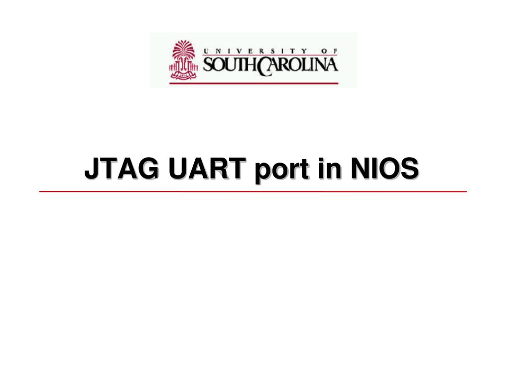 jtag uart port in nios l.