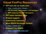 visual foxpro resources