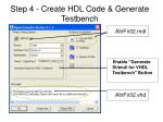 step 4 create hdl code generate testbench