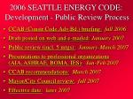 2006 seattle energy code development public review process