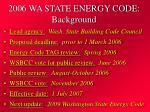 2006 wa state energy code background