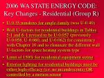 2006 wa state energy code key changes residential group r