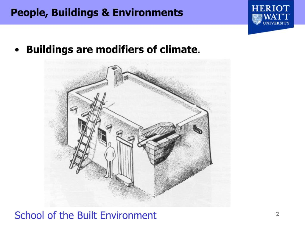 Buildings are modifiers of climate