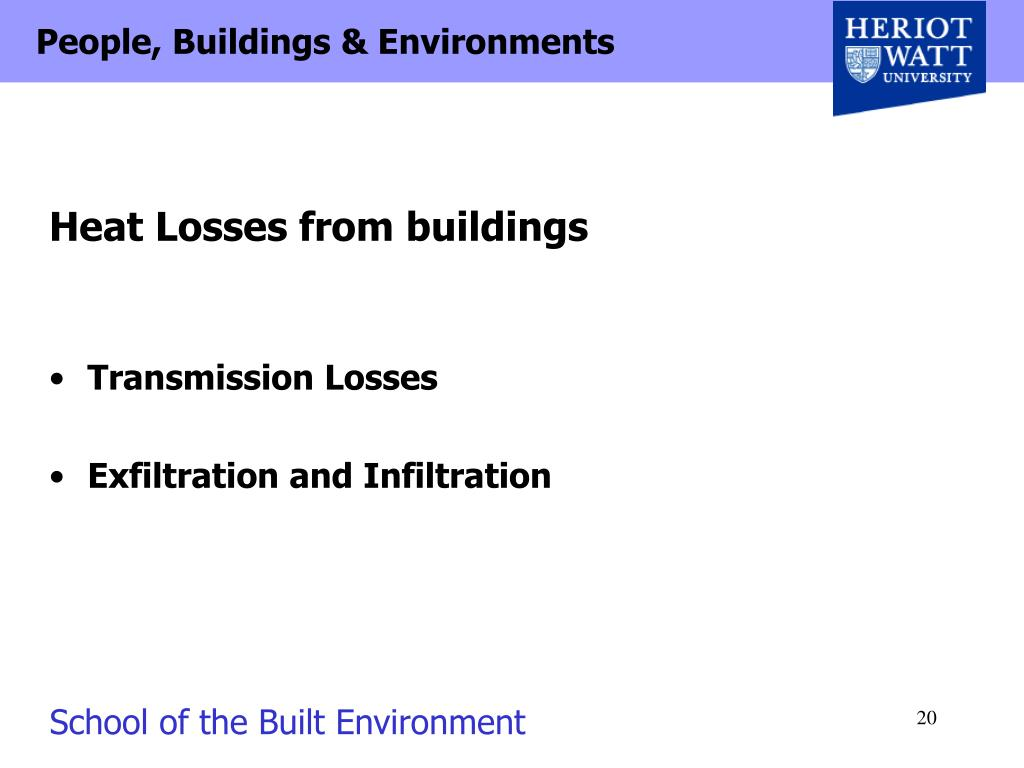 Heat Losses from buildings