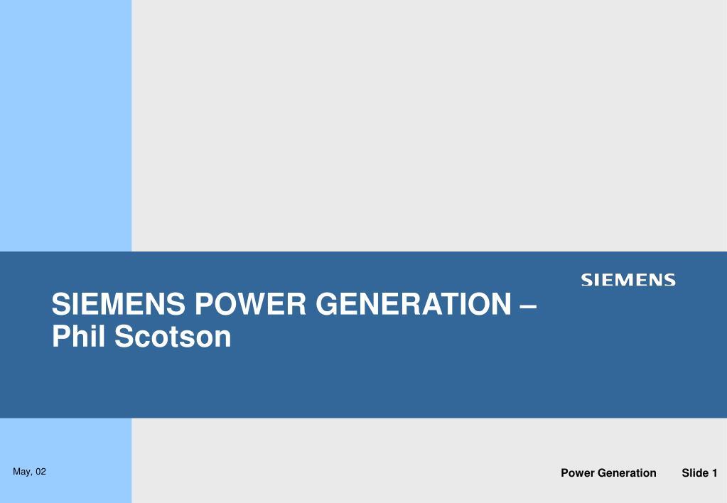 siemens power generation phil scotson l.