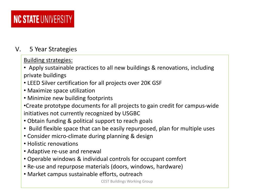 5 Year Strategies