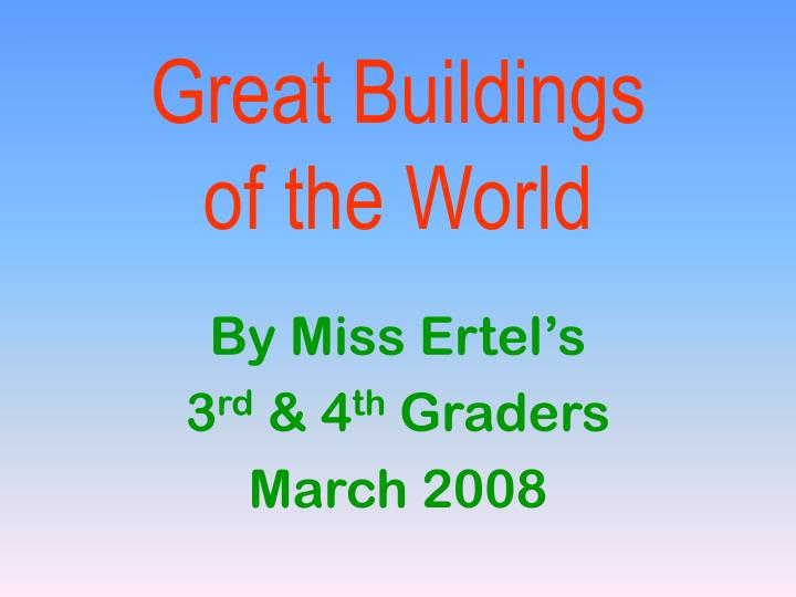 great buildings of the world n.