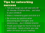 tips for networking success