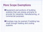 more scope exemptions