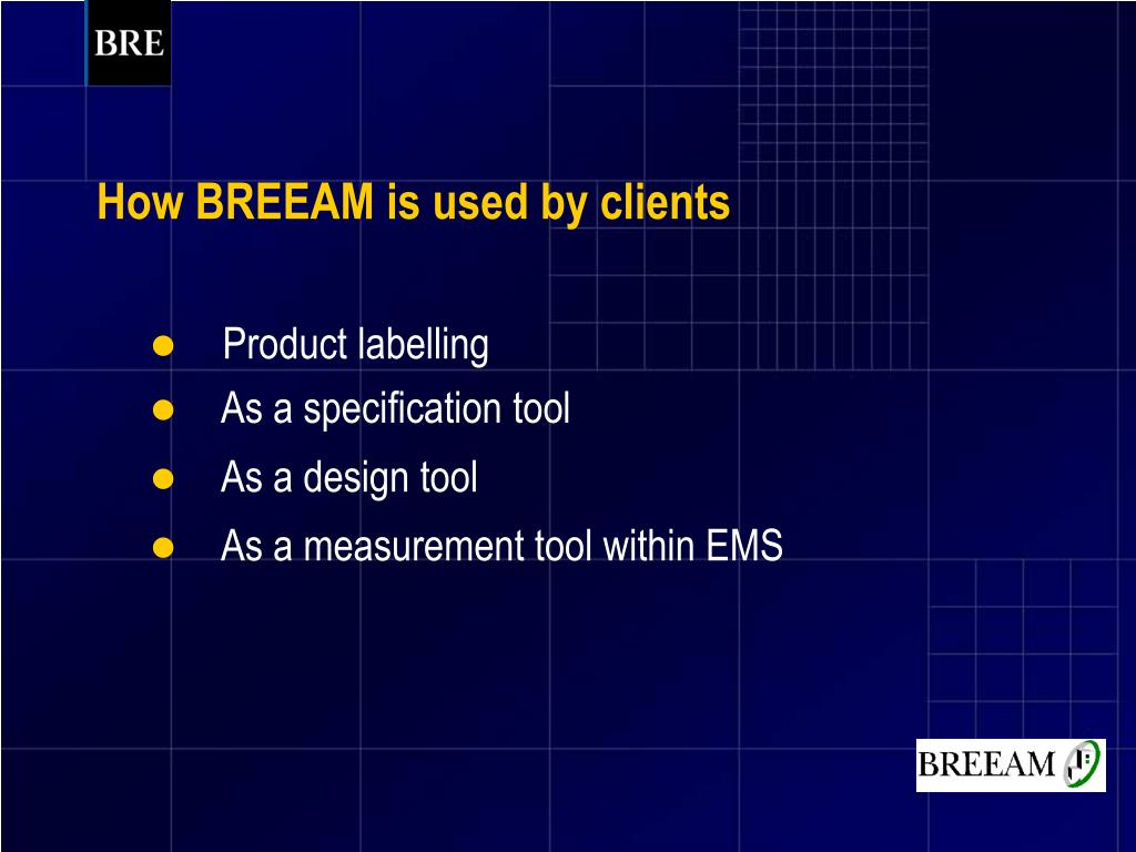 How BREEAM is used by clients